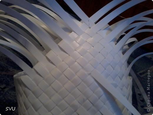 Мастер-класс Плетение Плетение корзинки из упаковочной полипропиленовой стреппинг ленты Полиэтилен фото 25