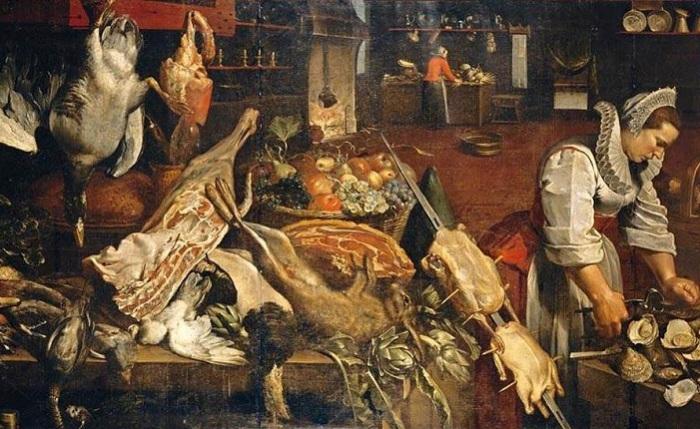 Кухня Натюрморт. Frans Snyders.