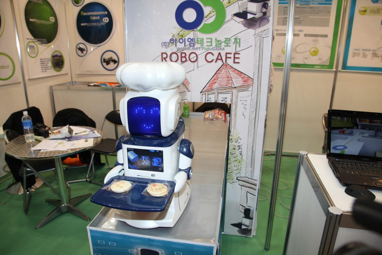 Робо-кафе в Корее