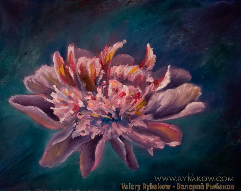 Картина маслом: Волшебный цветок. Художник Рыбаков.