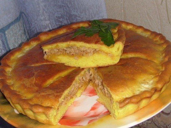 Простой рецепт вкусного пирога с мясом