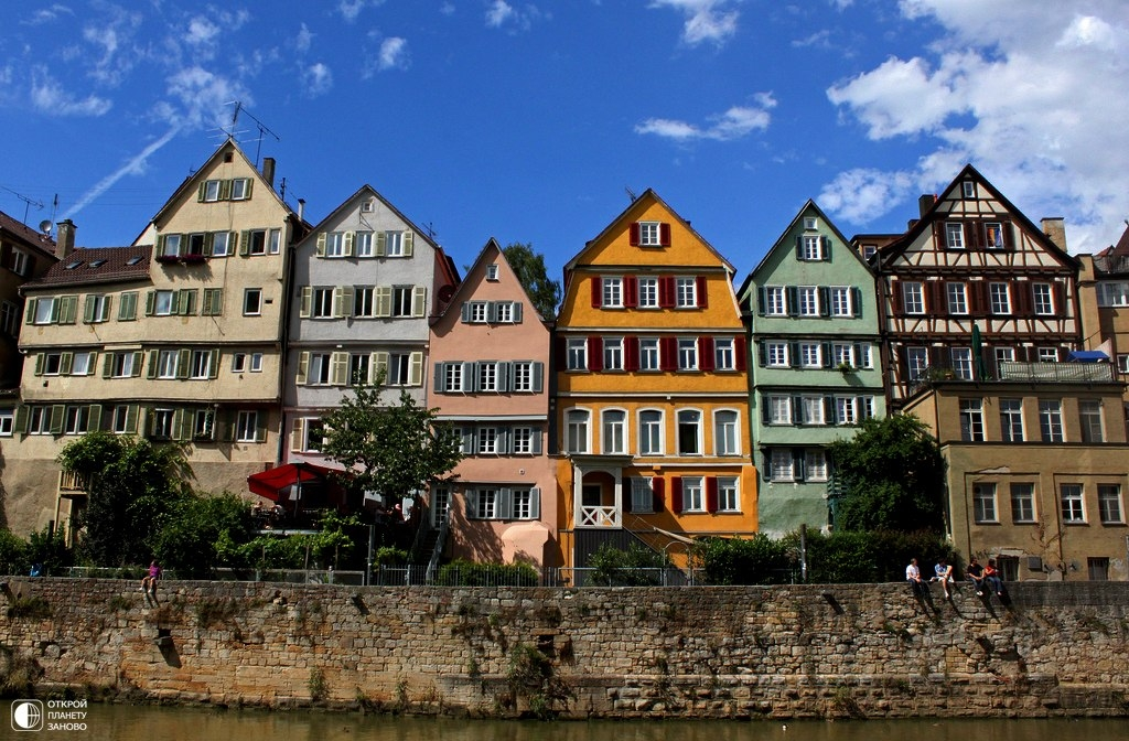 Тюбинген - старинный город в Германии