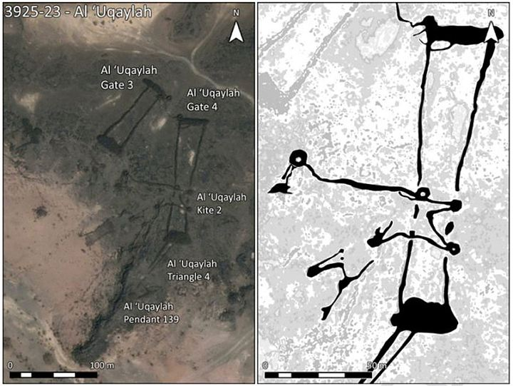 В Аравии обнаружили сотни загадочных древних стен и тысячи пирамид в форме глаза