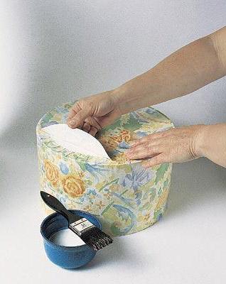 Коробки, обтянутые тканью