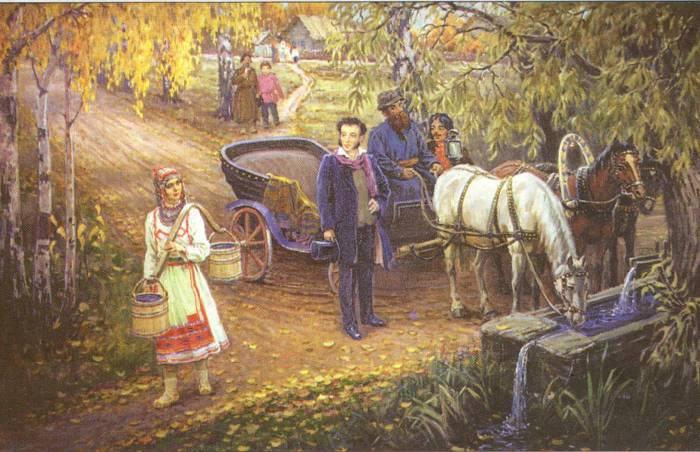 Картинки по запросу пушкин в ссылке в михайловском