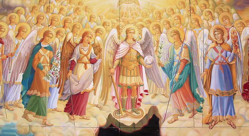 Чины ангелов, сил небесных и святых в Православии.