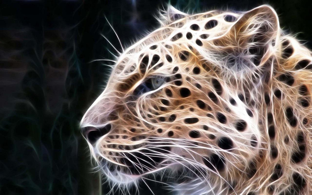 Огненные животные из фрактального зоопарка