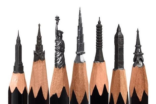 Невероятные шедевры резьбы по карандашным грифелям от Салавата Фидаи