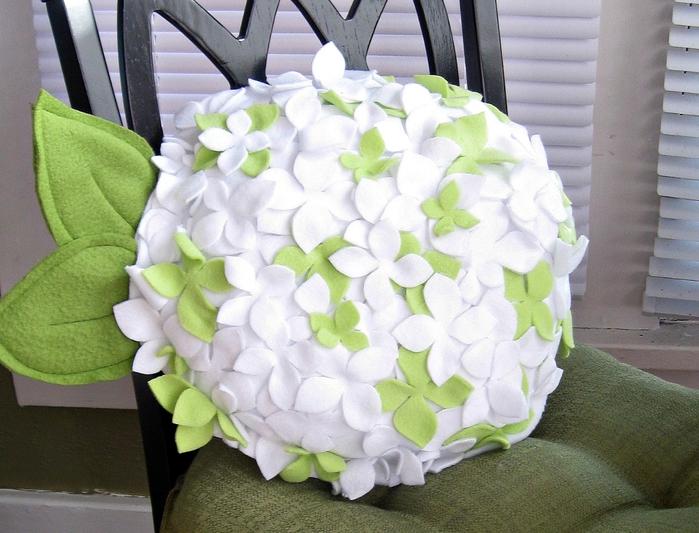 Цветы для подушек своими руками 108