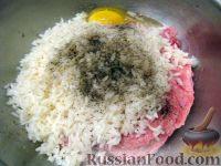 """Фото приготовления рецепта: Мясные """"Ежики"""" - шаг №4"""