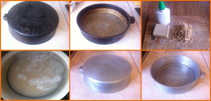 Несложный способ очистить чугунную посуду