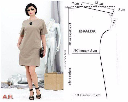 Выкройка-шаблон платья на все размеры