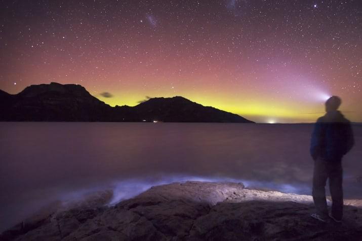 Лучшее бесплатное световое шоу - южное сияние, Тасмания австралия, доказательство, животные, мир, природа, туризм, фотография