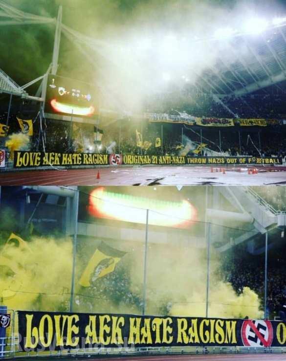 Нацисты, вон из футбола! За Донбасс — греческие болельщики отомстили украинцам за нападение на россиян и погром в Афинах