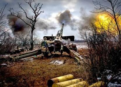 Мощнейший бой под Дебальцево, позиции ВСУ ровняют с землей