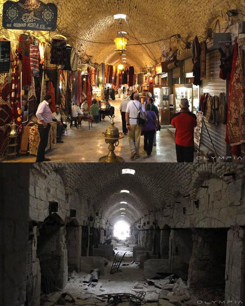 25 фотографий сирийского города Алеппо до и после войны алеппо, война, тогда и сейчас