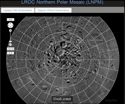Северный полюс Луны для всех желающих