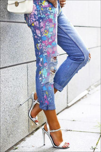 Запачканные джинсы
