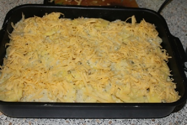 картофельная запеканка без мяса