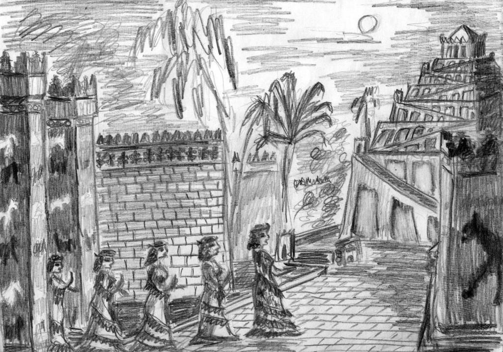 Вавилон: процессия жриц