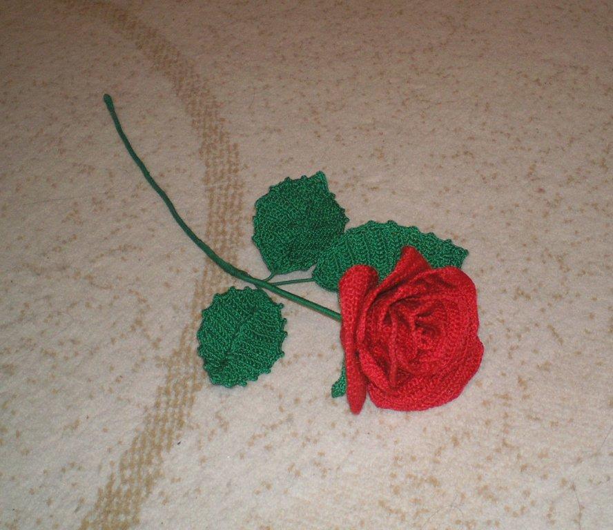 Цветы роза вязанная крючком
