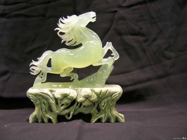 carved jade stone in 1787 yu the great taming the water