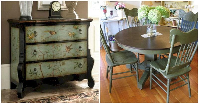 Изящные и красивые примеры обновления мебели в два цвета