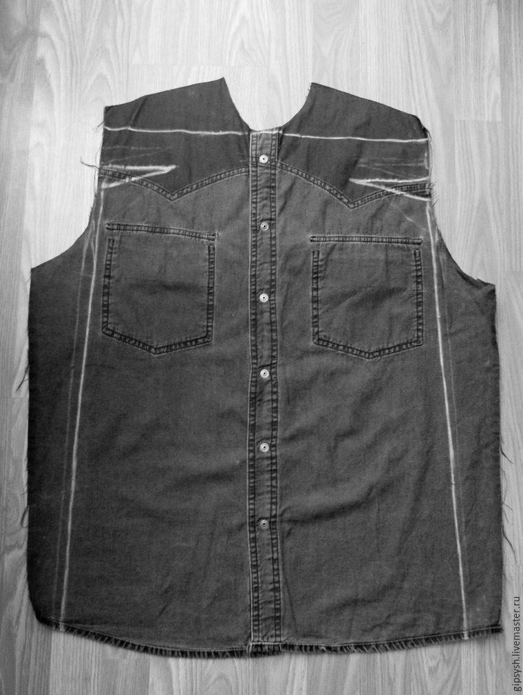 Стильное платье из джинсовой рубашки
