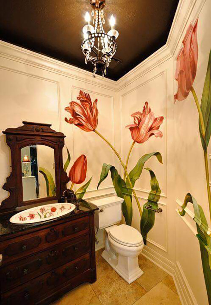 креативный дизайн ванной комнаты