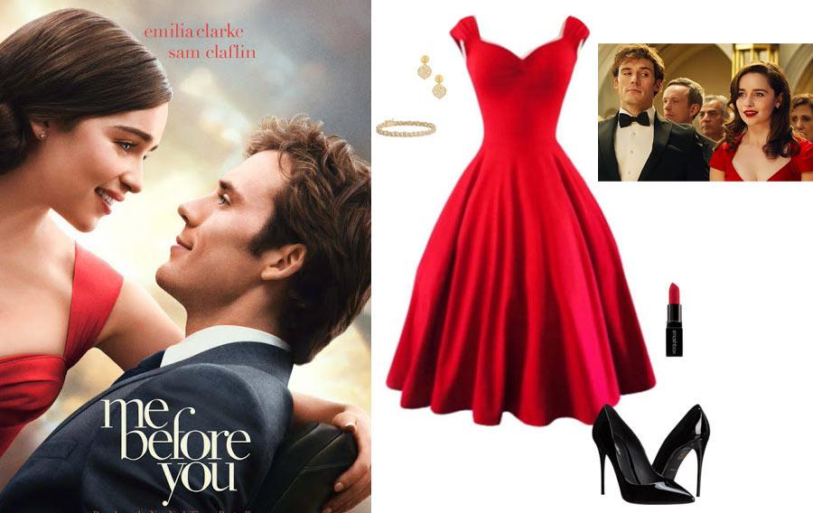 Красное платье с фильма до встречи с тобой