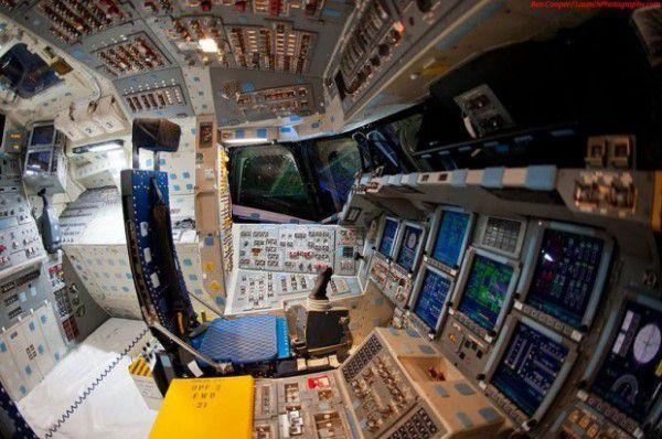 A nave espacial dentro de uma nave espacial foto
