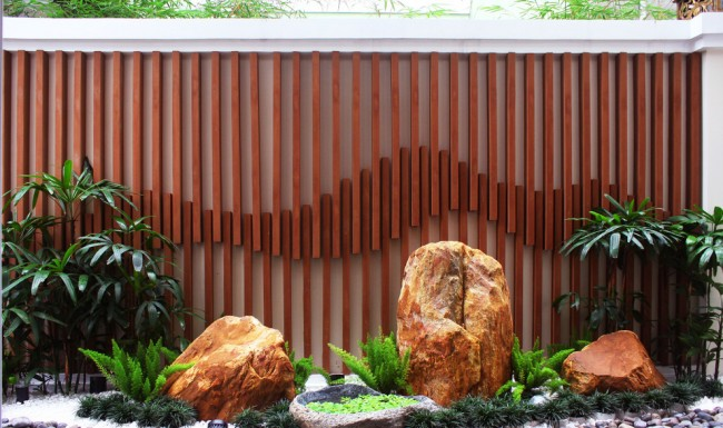 Ландшафтный дизайн дачного участка, выдержанный в китайском стиле