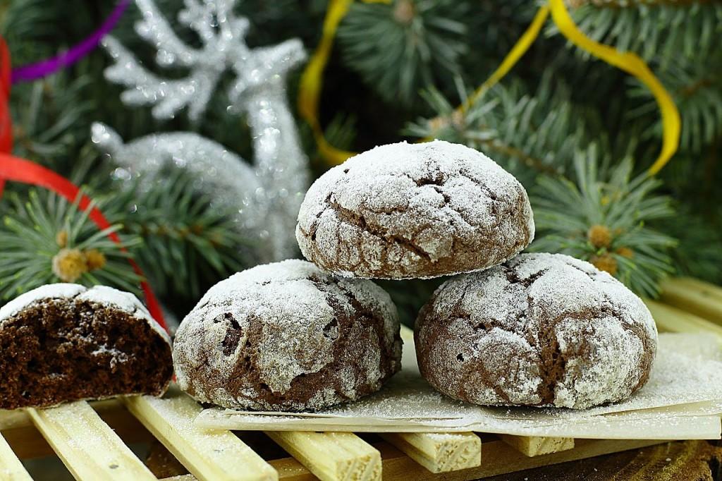 """Шоколадное печенье """"Снежные вершины"""" - отличный новогодний десерт!"""