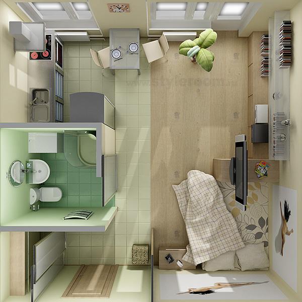 Малогабаритные квартиры студии дизайн фото