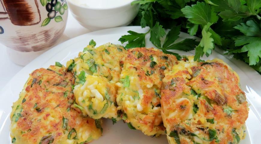 Котлетки из яиц с зеленью