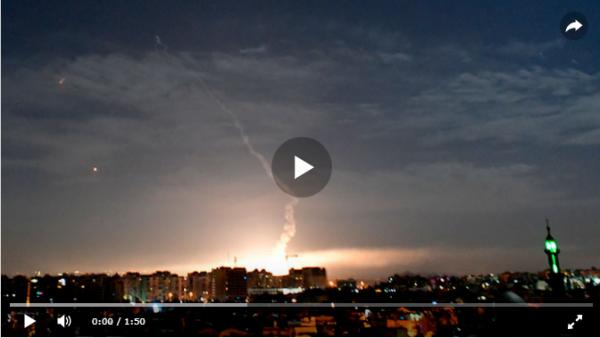 Сирийские ПВО отразили очередной акт агрессии израильской военщины