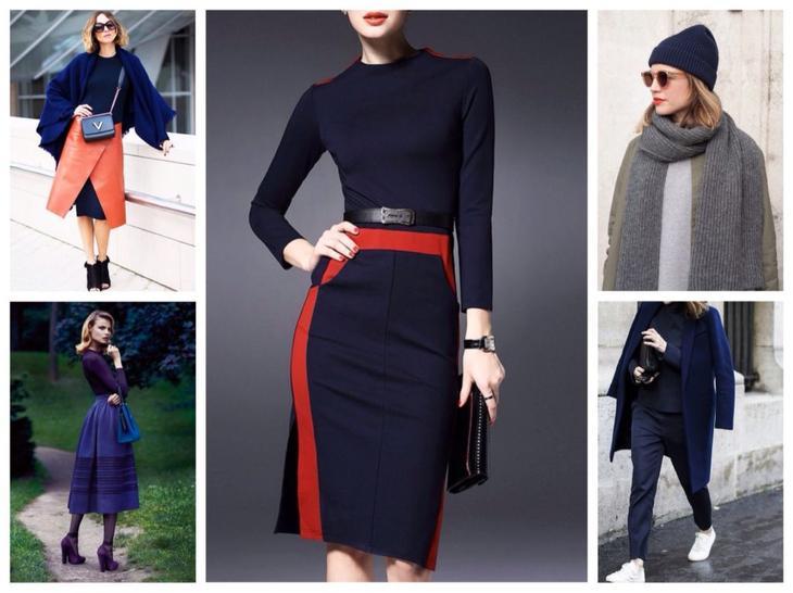 Одежда темно-синего цвета: с чем сочетать и носить