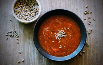 Томатный крем-суп с чечевицей