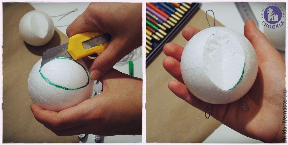 Как сделать большой шар из папье маше 115