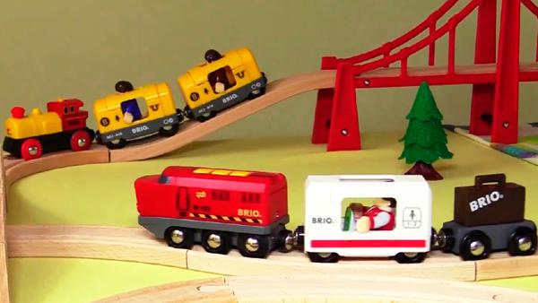 Развивающий мультфильм для малышей про поезда