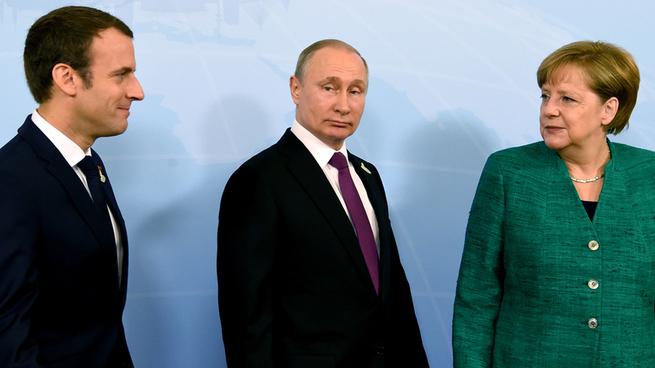 Для чего Макрону и Меркель нужна Россия Путина