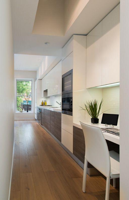 Проходная кухня в духе минимализма