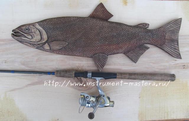 """Декоративное резное блюдо """"Кета"""" в подарок рыбаку"""