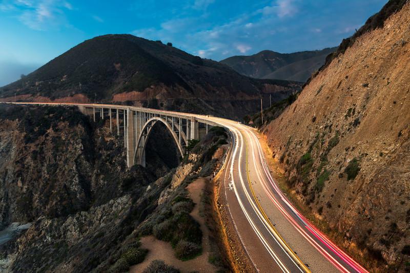 Мост Биксби, Калифорния Северная Америка, путешествие, фотография