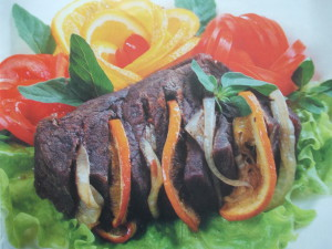 Оригинальное мясо, запеченное с апельсинами