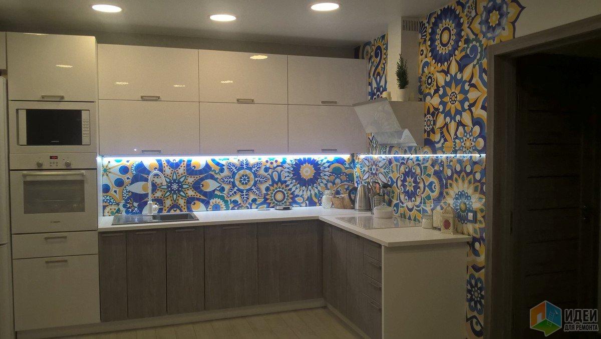 """Кухня-гостиная с восточными нотками. Наш первый ремонт. """"Изюминка"""" своими руками))"""