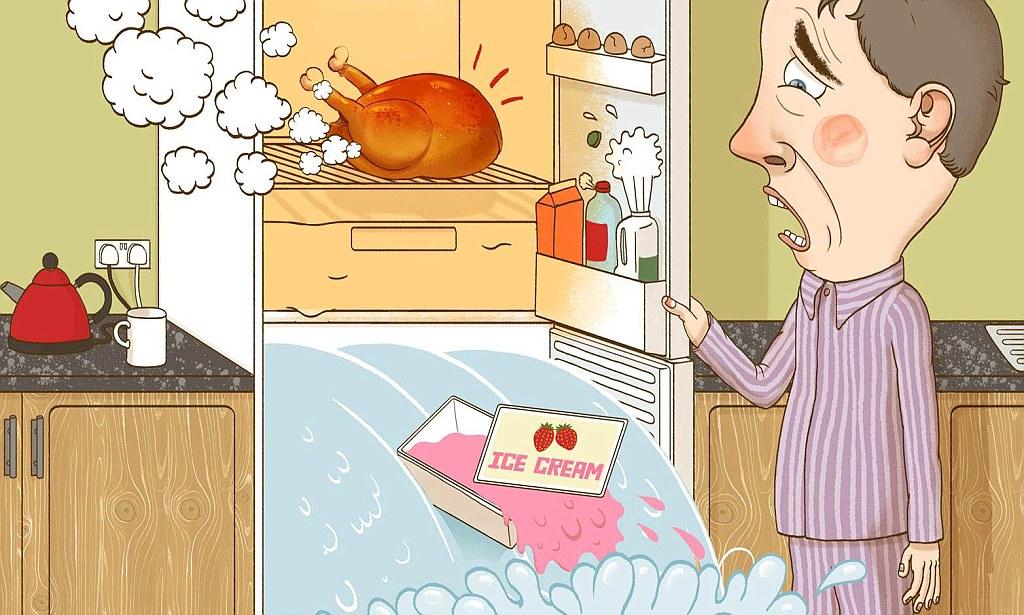 Почему нельзя горячее нельзя ставить в холодильник горячее