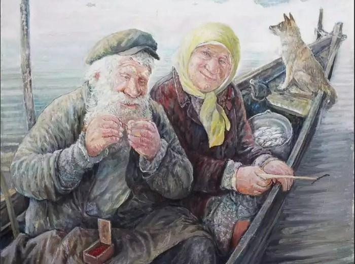 Деревенские старички на душевных картинах Леонида Баранова