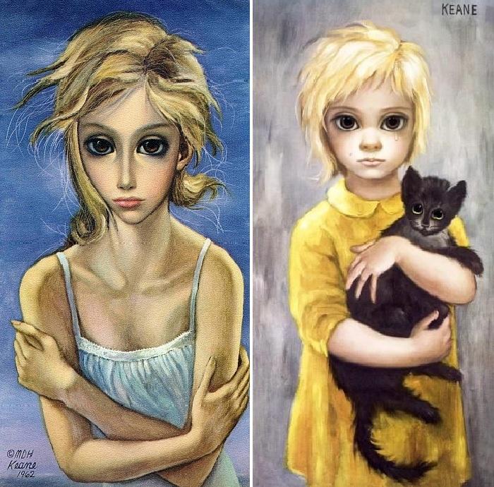 Большие глаза от художницы Маргарет Кин. ¦ Фото: livejournal.com.