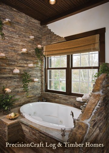 2074279556_9ea559c3bd Master Bathroom _ Custom Hybrid Log _amp Timber Home _ PrecisionCraft Log _amp Timber Homes_O (360x504, 54Kb)